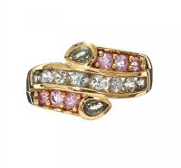 9CT GOLD GREEN, BLUE AND PINK SAPPHIRES at Ross's Jewellery Auctions