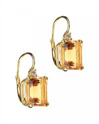 18CT GOLD CITRINE AND DIAMOND EARRINGS at Ross's Jewellery Auctions