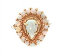 14CT GOLD OPAL RING at Ross's Jewellery Auctions