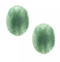 PAIR OF JADE EARRINGS at Ross's Jewellery Auctions