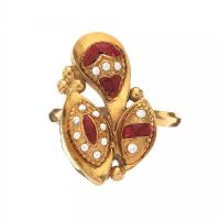 22CT GOLD ENAMEL RING at Ross's Jewellery Auctions