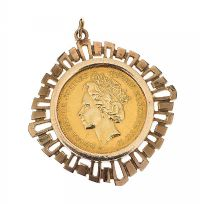 9CT GOLD MOUNTED JUBILEE COIN at Ross's Jewellery Auctions