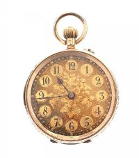 14CT GOLD 'CUIVRE' OPEN-FACED LADY'S POCKET WATCH at Ross's Jewellery Auctions
