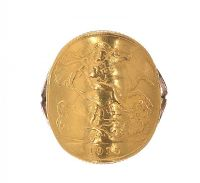 MOUNTED HALF-SOVEREIGN RING at Ross's Jewellery Auctions