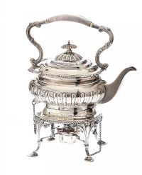 SILVER SPIRIT KETTLE ON STAND at Ross's Auctions