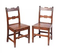 PAIR OF GEORGIAN OAK SIDE CHAIRS at Ross's Auctions