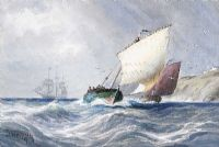 SAILING OFF WHITEHEAD by Joseph William  Carey RUA at Ross's Auctions
