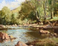 THE DUN RIVER, GLENDUN, COUNTY ANTRIM by Maurice Canning  Wilks ARHA RUA at Ross's Auctions