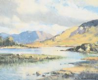 KELMORE LAKE by Maurice Canning  Wilks ARHA RUA at Ross's Auctions