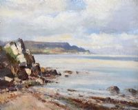 GARRON POINT, CO ANTRIM by Maurice Canning  Wilks ARHA RUA at Ross's Auctions