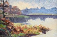 REFLECTIONS BY THE WATER, BELVOIR PARK by Hans Iten RUA at Ross's Auctions