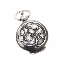 FRENCH ART NOUVEAU SILVER SOVEREIGN HOLDER at Ross's Jewellery Auctions