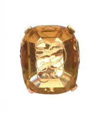 9CT GOLD 19TH CENTURY CITRINE SIGNET AND SEAL RING at Ross's Jewellery Auctions