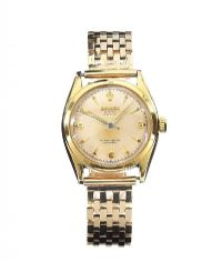 ROLEX 'OYSTER PERPETUAL' 9CT GOLD GENT'S WRIST WATCH at Ross's Auctions