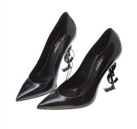 SAINT LAURENT BLACK OPYUM BLACK PATENT LEATHER PUMPS at Ross's Auctions
