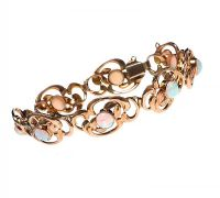 9CT GOLD OPAL BRACELET at Ross's Jewellery Auctions