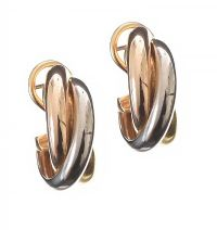 CARTIER 18CT GOLD TRINITY EARRINGS at Ross's Jewellery Auctions