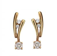9CT GOLD DIAMOND 'SHOOTING STAR' EARRINGS at Ross's Jewellery Auctions