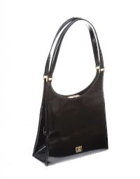 MOSCHINO BLACK PATENT LEATHER HANDBAG at Ross's Jewellery Auctions