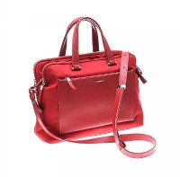 SAMSONITE RED LEATHER SHOULDER BAG at Ross's Jewellery Auctions