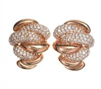 18CT ROSE GOLD AND DIAMOND EARRINGS at Ross's Jewellery Auctions