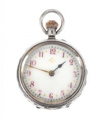 STERLING SILVER POCKET WATCH at Ross's Jewellery Auctions