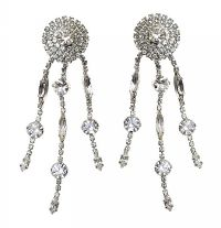 BUTLER AND WILSON CRYSTAL-SET EARRINGS at Ross's Jewellery Auctions