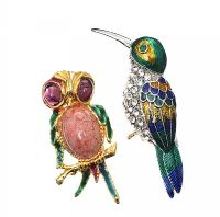 TWO ENAMEL BROOCHES at Ross's Jewellery Auctions