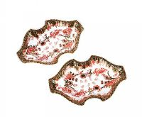 PAIR OF ROYAL CROWN DERBY SHAPED DISHES at Ross's Auctions