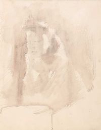 PORTRAIT OF A GIRL by Tom Carr HRHA RUA RWS at Ross's Auctions