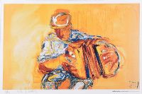 THE YELLOW ACCORDIAN by J.B. Vallely at Ross's Auctions