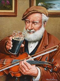 A QUIET PINT by Roy Wallace at Ross's Auctions