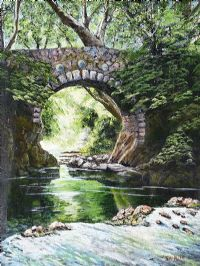 FOLY BRIDGE, TOLLYMORE, NEWCASTLE COUNTY DOWN by Jim Allen at Ross's Auctions