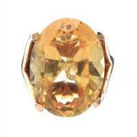 14CT GOLD RING SET WITH CITRINE at Ross's Jewellery Auctions