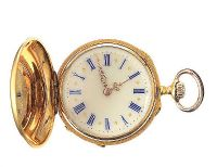 18CT GOLD DIAMOND-SET FOB WATCH at Ross's Jewellery Auctions