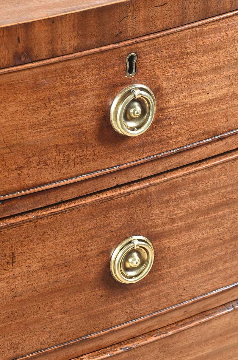 GEORGIAN MAHOGANY BOW FRONT CHEST OF DRAWERS at Ross's Online Art Auctions