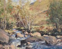 AUTUMN, GLENDUN, COUNTY ANTRIM by Maurice Canning  Wilks ARHA RUA at Ross's Auctions