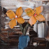 YELLOW FLOWERS IN A VASE by Colin Flack at Ross's Auctions
