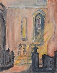 LIGHT THROUGH A CHURCH WINDOW by Evie Hone HRHA at Ross's Auctions