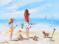 A DAY AT THE BEACH by Lorna Millar at Ross's Auctions