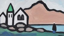 VILLAGE BY THE SHORE by Markey Robinson at Ross's Auctions