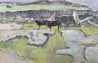 CATTLE & WETLANDS by Cecil Maguire RUA at Ross's Auctions