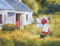 THE WASHING LINE by Noel Shaw at Ross's Auctions