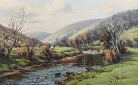 SPRING IN GLENDUN, GLENS OF ANTRIM by Charles McAuley at Ross's Auctions