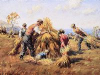 STACKING HAY by Charles McAuley at Ross's Auctions