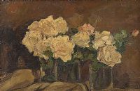 STILL LIFE, WHITE ROSES by William Henry Fry at Ross's Auctions