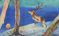 STAG IN THE WOODLANDS by Robert Catterson Smith at Ross's Auctions