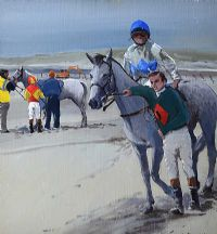 FIRST RACE, OMEY STRAND by Cecil Maguire RUA at Ross's Auctions