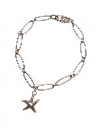ELSA PERETTI FOR TIFFANY STERLING SILVER STARFISH CHARM BRACELET at Ross's Jewellery Auctions