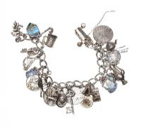 STERLING SILVER CHARM BRACELET (MISSING CLASP) at Ross's Jewellery Auctions